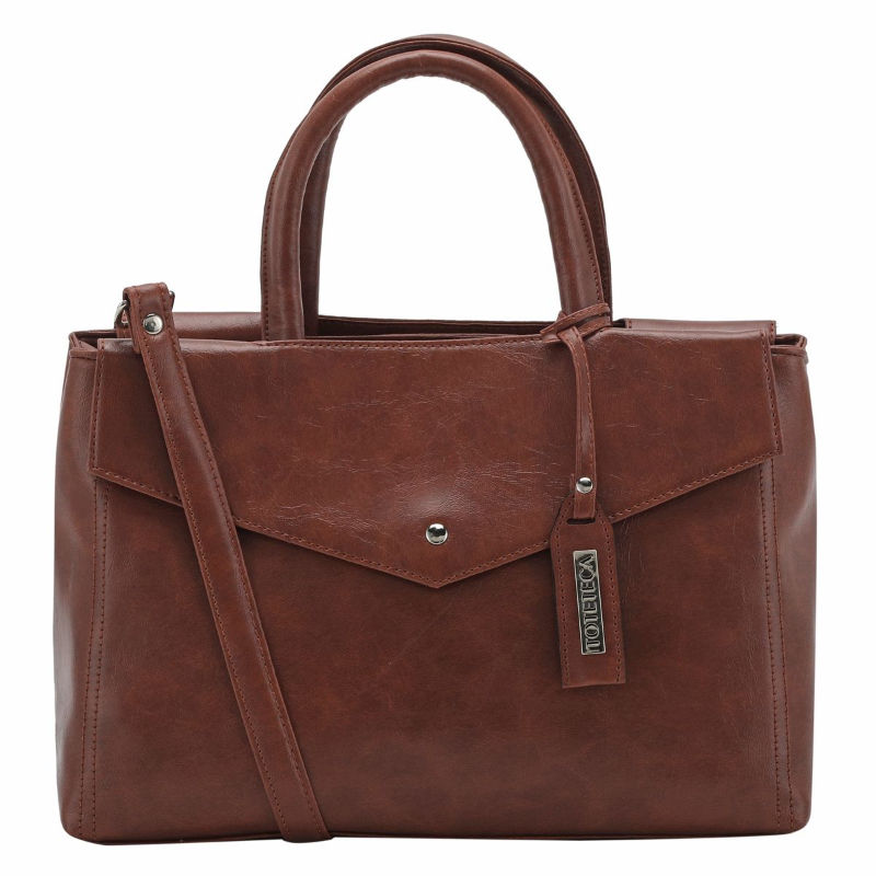 Toteteca Multi pocket Shoulder Bag Female Brown