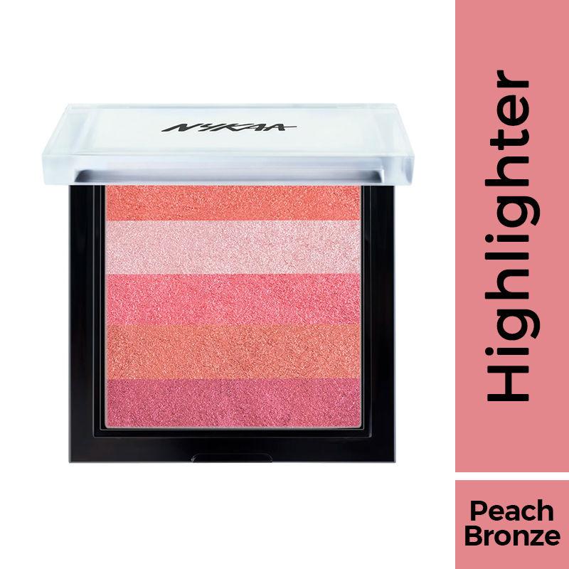 Nykaa Glow Goals! Shimmer Brick Highlighter Palette - Sunset Love