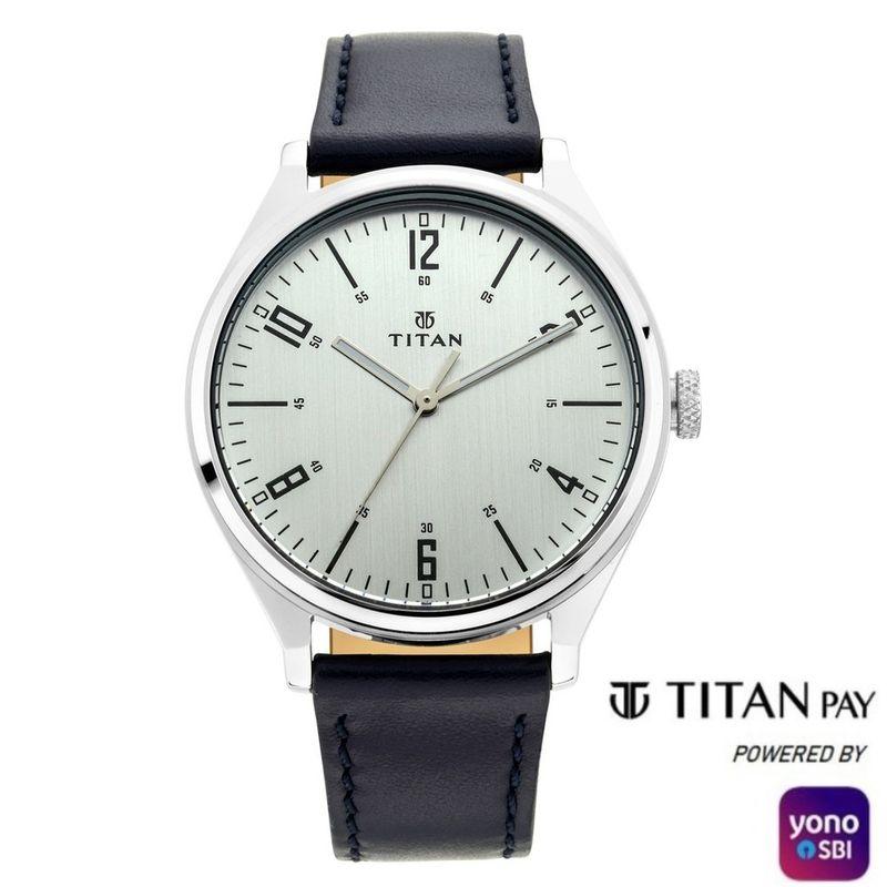 Titan 1802SL10Silver Dial Analog Watch For Men