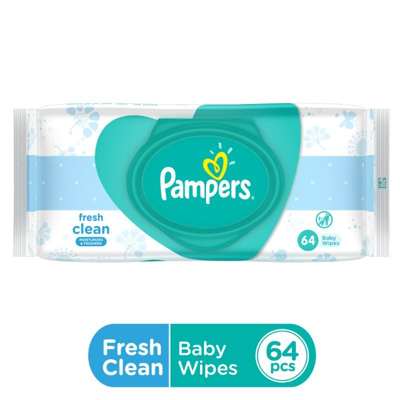 Pampers Fresh Clean Baby Wipes - 64 Pack