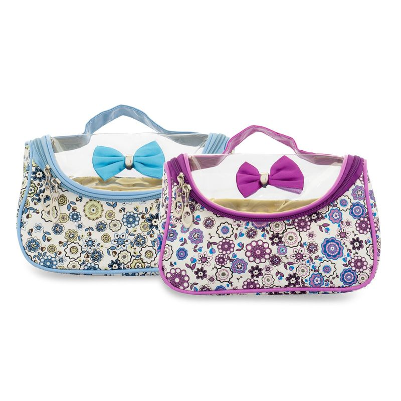 NFI Essentials Pack Of 2 Printed Cosmetics Makeup Pouches