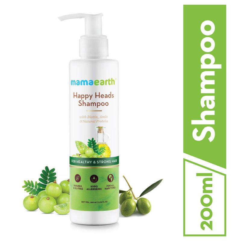 Mamaearth Happy Heads Hair Shampoo With Biotin, Amla   Natural protein