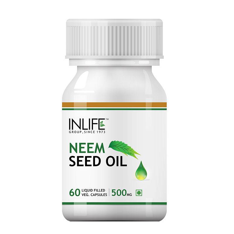 INLIFE Neem Seed Oil Supplement  500mg  60 Veg. Capsules