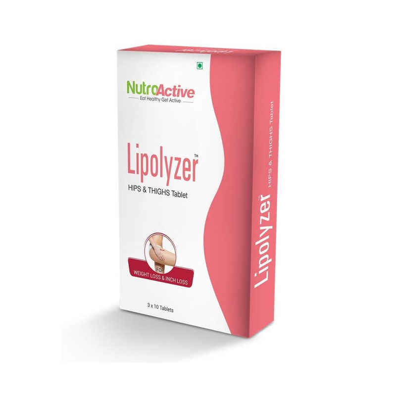 Nutroactive Lipolyzer Hips Thighs Tablet For Weight Management 30 Tablets 30 Tablets