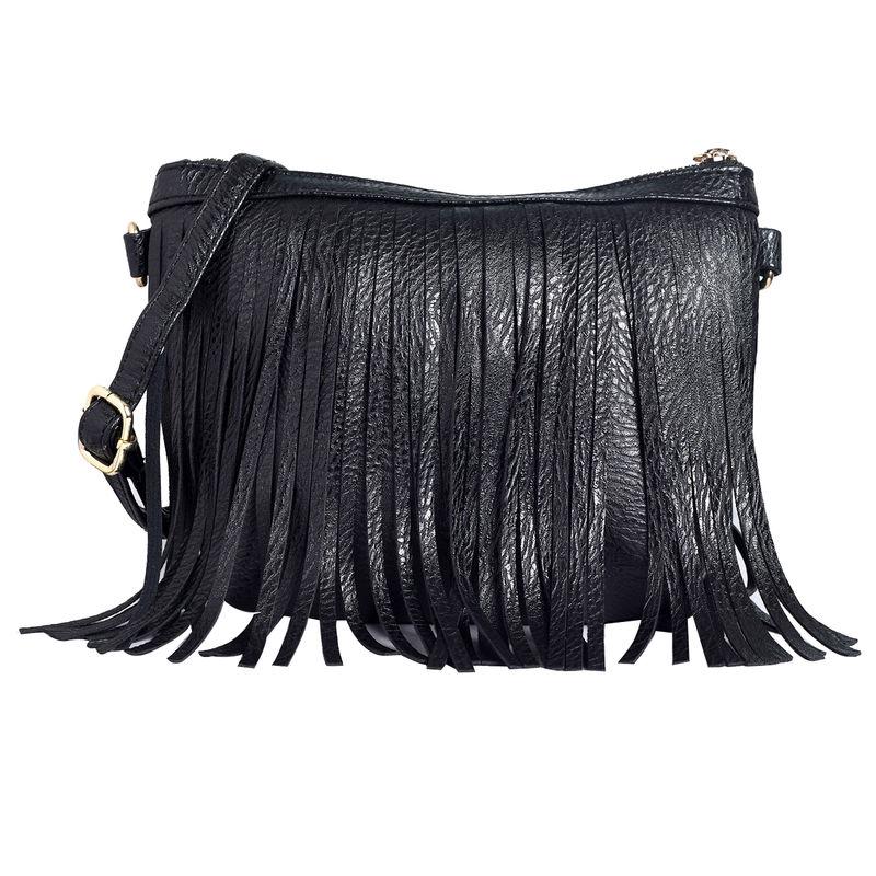792942d71e1d Lino Perros Black Leatherette Sling Bag