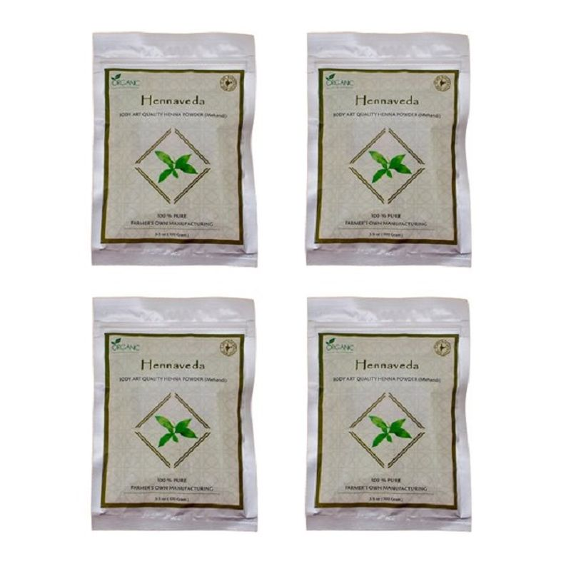 Hennaveda Body Art Quality Henna Powder Pack Of 4 Buy Hennaveda Body Art Quality Henna Powder Pack Of 4 Online At Best Price In India Nykaa