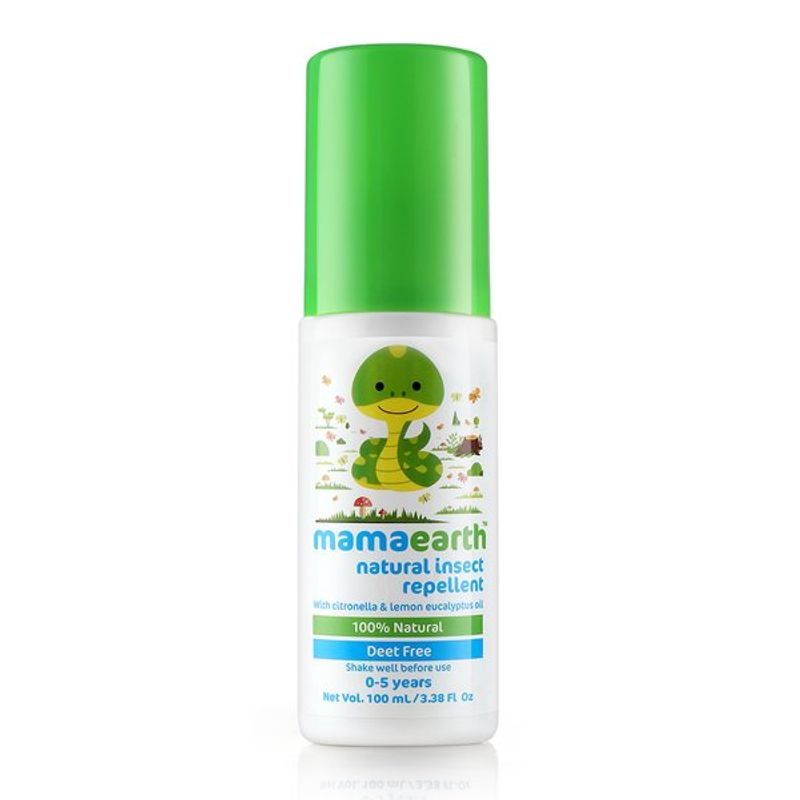 Mamaearth Natural Insect Repellent with Citronella & Lemongrass Oil