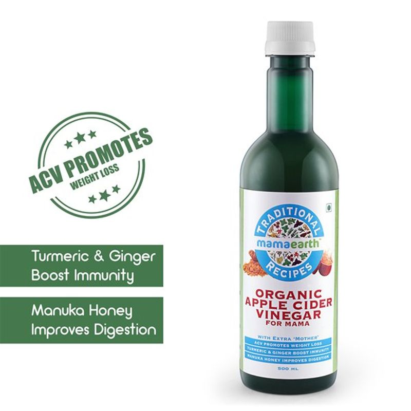Mamaearth Traditional Recipes Organic Apple Cider Vinegar For Mama for  weight loss(500ml)