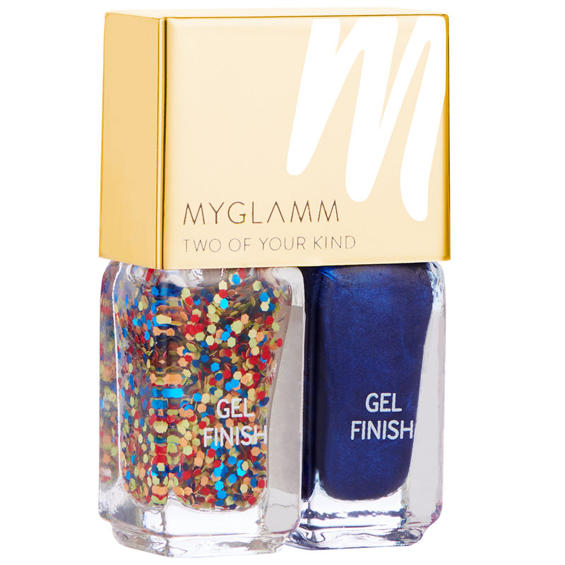 MyGlamm Gel Finish Nail Enamel Duo