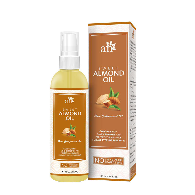 AromaMusk 100% Pure Cold Pressed Sweet Almond Oil For Massage, Skin, Under  Eye & Hair