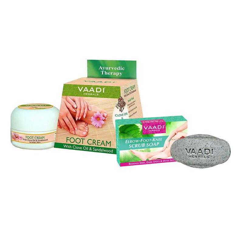 Vaadi Herbals Elbow-Foot-Knee Scrub Soap & Foot Crème Combo