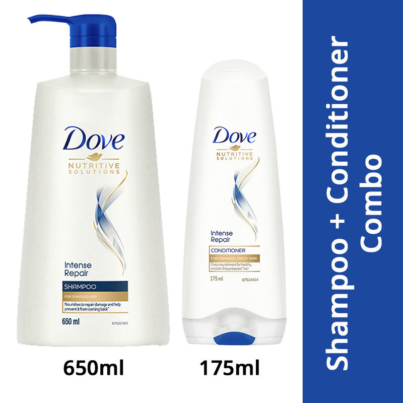 Dove Intense Repair Shampoo Damage Solutions Intense Repair Conditioner Buy Dove Intense Repair Shampoo Damage Solutions Intense Repair Conditioner Online At Best Price In India Nykaa