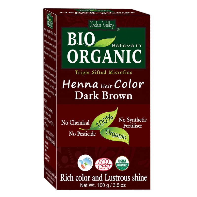 b38396365762f Indus Valley Organic Henna Hair Colour Dark Brown at Nykaa.com