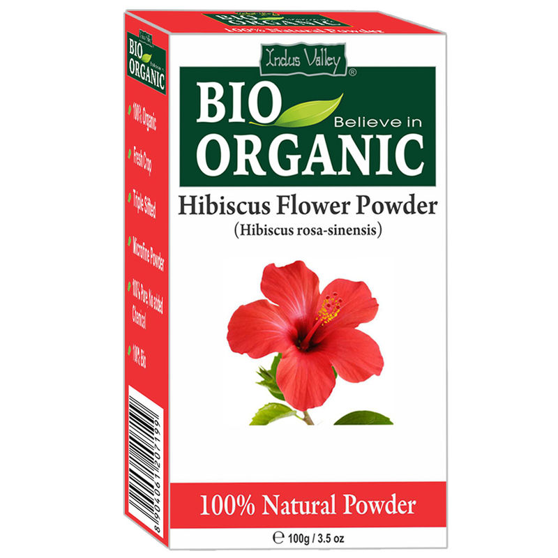 Indus Valley Bio Organic 100 Herbal Hibiscus Flower Powder At Nykaacom