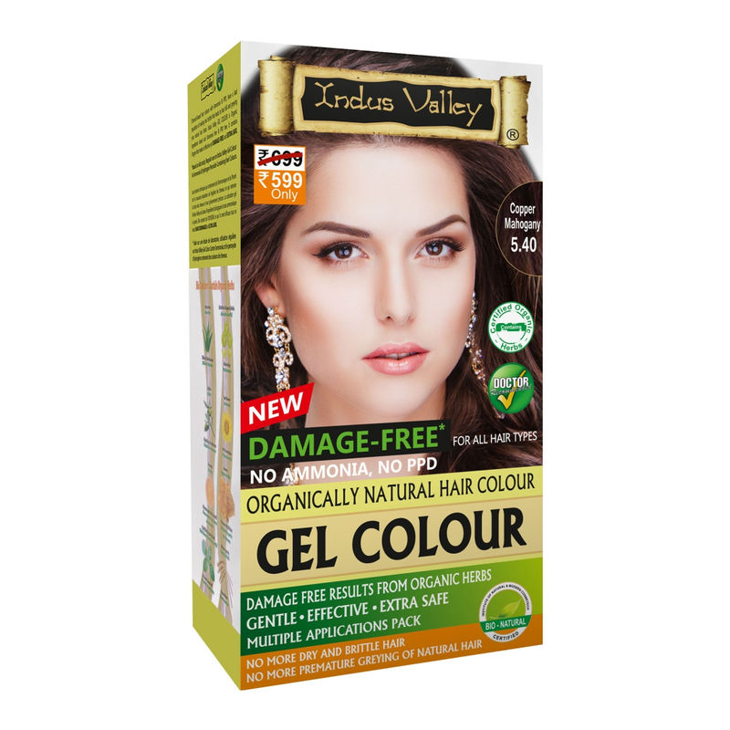 Indus Valley Organically Natural Hair Color - Copper Mahogany
