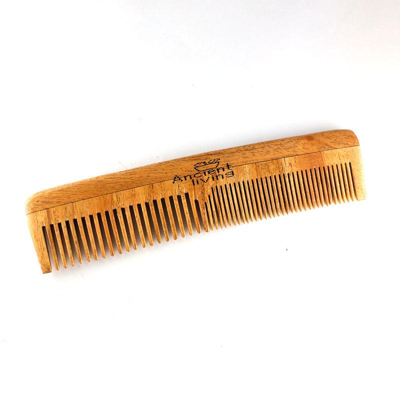 Ancient Living Neem Wood Comb 2 In 1 Model