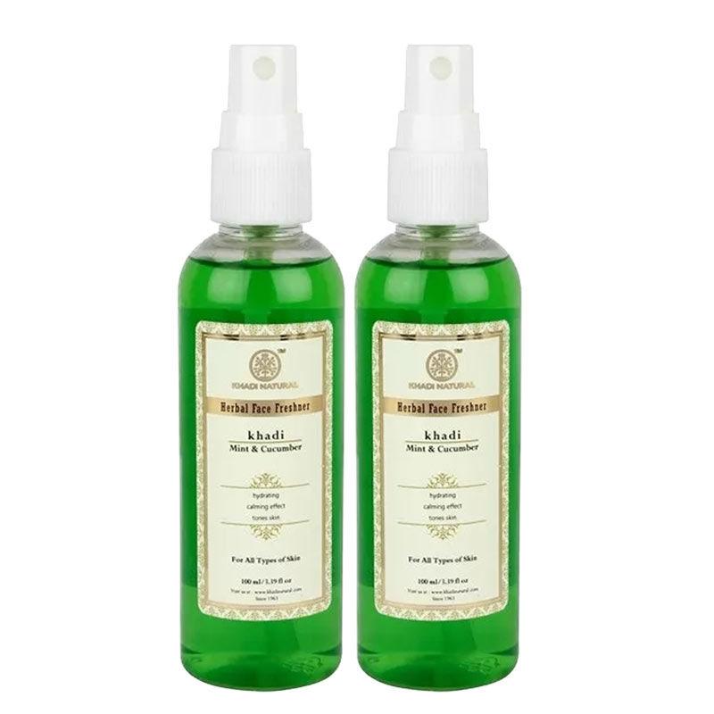 Khadi Natural Ayurvedic Mint & Cucumber Face Freshner Pack of 2