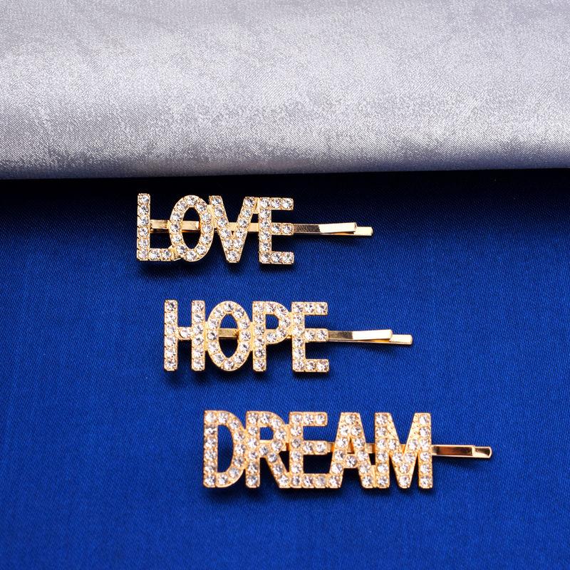 Ferosh Hope Love Dream Crystal Diamond Stone Hair Pin