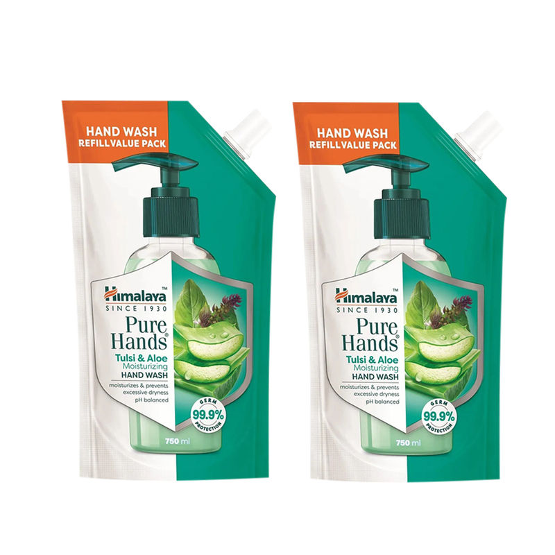 Himalaya Pure Hands Tulsi   Aloe Hand Wash Pack Of 2