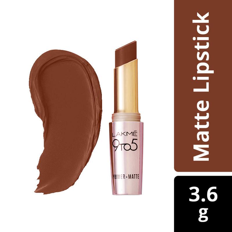 7d647b8de152 Lakme 9 to 5 Primer + Matte Lip Color - MB11 Espresso Shot at Nykaa.com