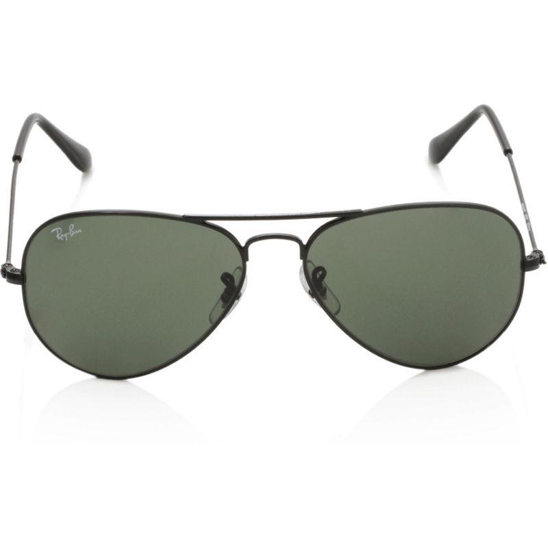 332f1cde4 Ray-Ban Green Aviator Sunglasses - RB3025 0025 55-14 at Nykaa.com