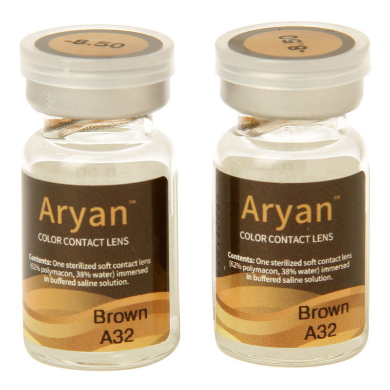 Purecon Aryan A32 Brown Yearly Contact Lens - Pack Of 2(Pack Of 2)