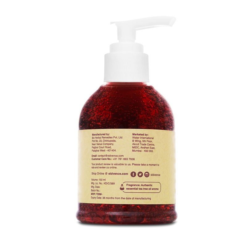 St  D'Vencé Geranium Oil Face Wash With Witch Hazel & Aloe Vera(150ml)