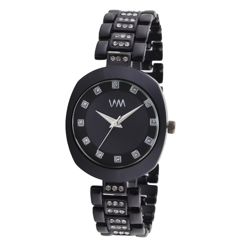 48782785b WM Black Dial Stainless Steel Strap Watch For Women (WMAL-348new) at  Nykaa.com