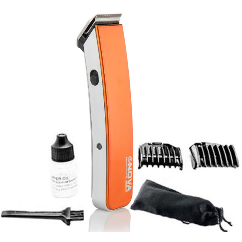 Nova NHT 1045 Rechargeable Cordless , 30 Minutes Runtime Beard Trimmer for Men  Orange