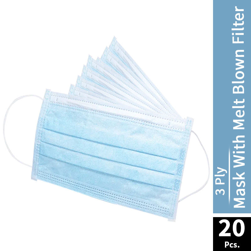 Nykaa 3 Ply Mask With Melt Blown Filter - Pack of 20
