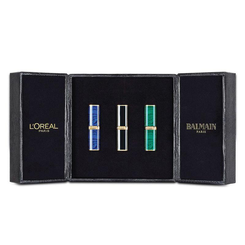 Loreal Paris X Balmain Makeup Box Of 3 Lipsticks 356 Confidence