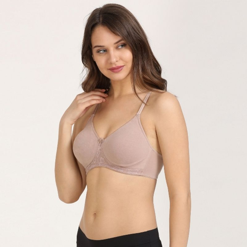 1ee2e32c2 Zivame Cotton Double Layered Wirefree Bra - Skin at Nykaa.com