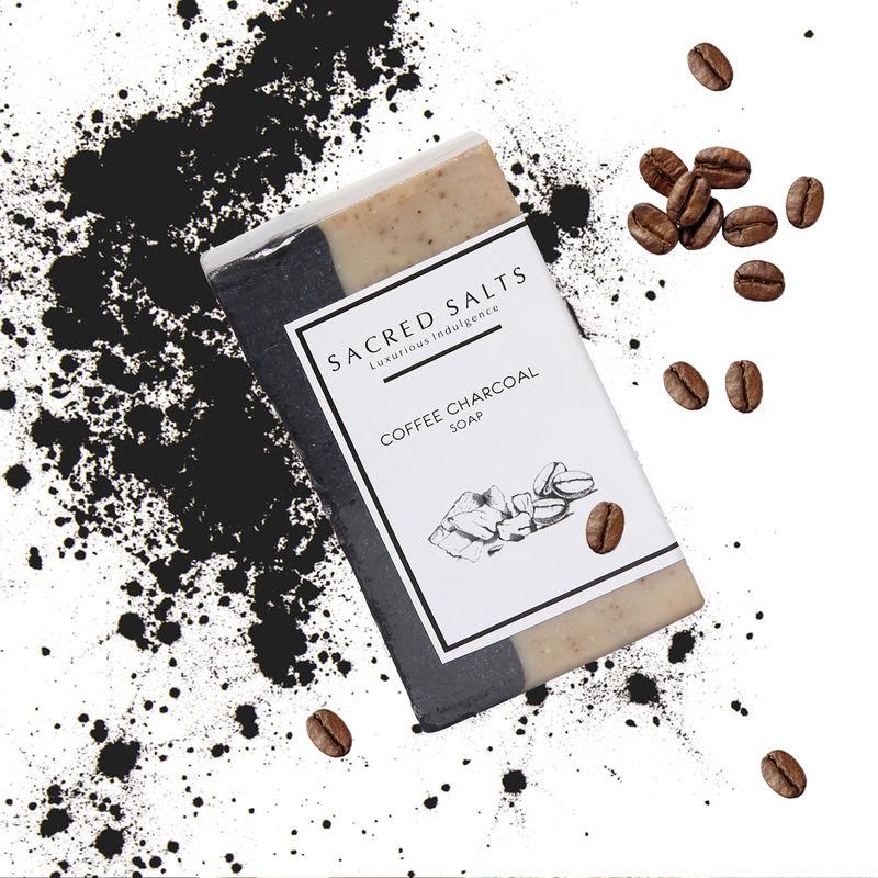 Sacred Salts Coffee Charcoal Gentle Purifying Handmade Castile Soap(100gm)