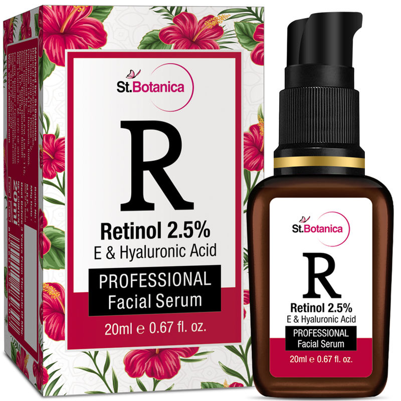 St.Botanica Retinol 2.5% + E & Hyaluronic Acid Professional Facial Serum