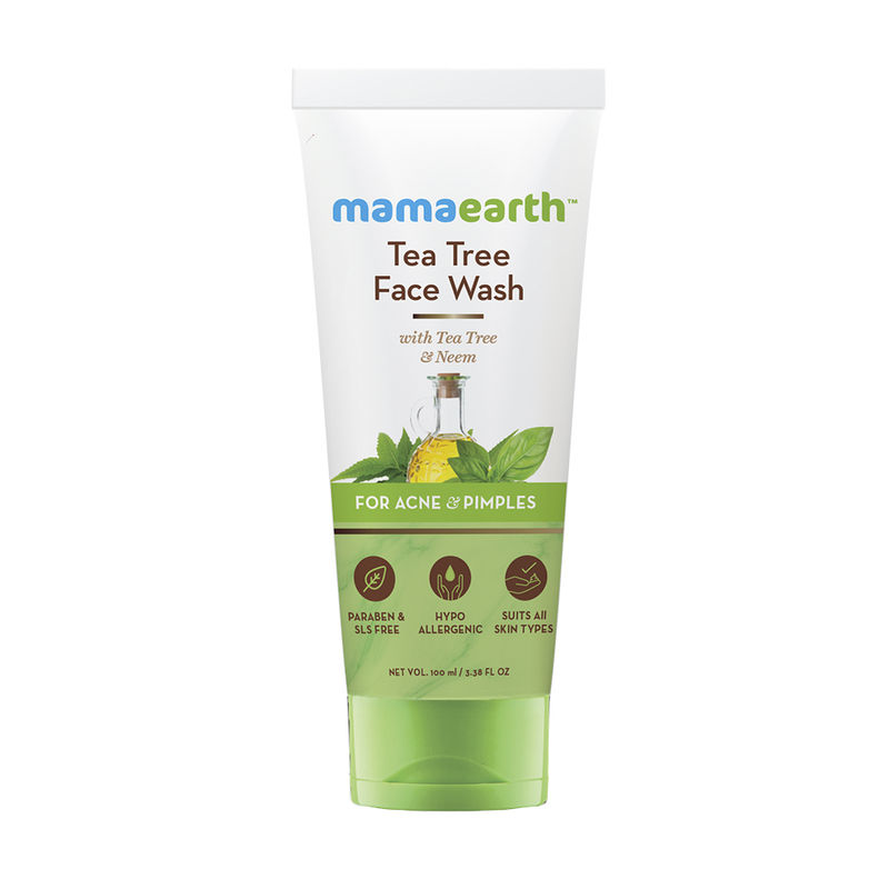 Mamaearth Face Wash With Tea Tree Oil And Neem Extract For Acne &Pimples