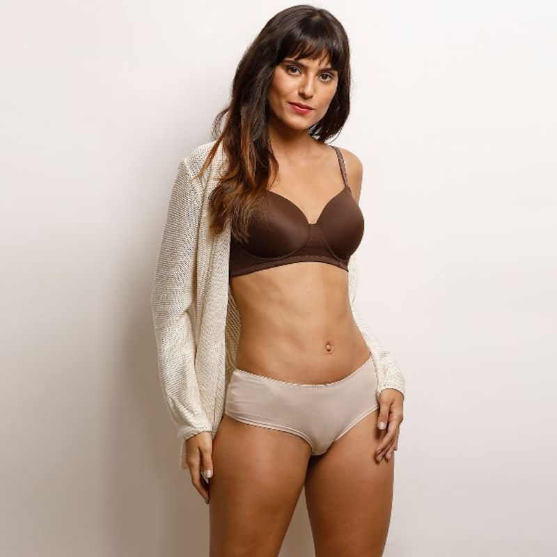 47548cfd5 Zivame Glitter Straps Radiance Smooth Padded T-Shirt Bra - Brown at  Nykaa.com