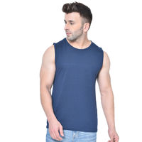 Chkokko Men Gym Tank Tops - Navy Blue