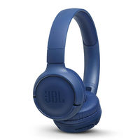 JBL Tune 500BT Powerful Bass Wireless On-Ear Headphones with Mic (Blue)