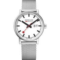 Mondaine Evo Date Analog Dial Color White Men's Watch- MSE.40210.SM