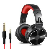 OneOdio Pro 10 Black & Red Over Ear Wired With Mic Headphones/Earphones