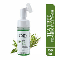 Globus Naturals Herbal Tea Tree Acne Control Foaming Face Wash with Silicon Face Massage Brush