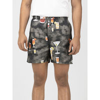 Whats Down Cocktail Boxers - Grey