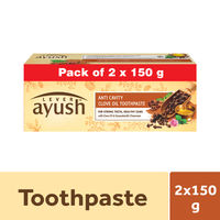 Lever Ayush Anti Cavity Clove Oil Toothpaste Pack of 2 Save Rs 17