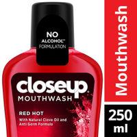 Closeup Red Hot Anti Germ Mouthwash