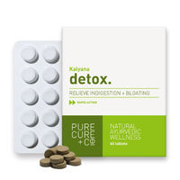 Pure Cure + Co. Detox Relieve Indigestion + Bloating 60 Tablets