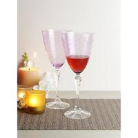 Bohemia Crystal Eliezabeth Pantograph Red Wine Glass Set, 350ml, Set Of 6, Purple
