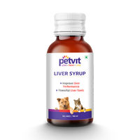 PetVit Liver Syrup With 15 Active Ingredients For Healthy Liver - For All Age Group