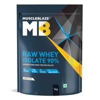 MuscleBlaze Raw Whey Isolate 90% - Unflavoured