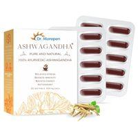 Dr. Morepen Natural & Pure Ashwagandha Capsules, Ayurvedic Immunity Booster