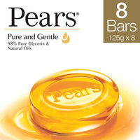 Pears Pure & Gentle Bathing Bar Pack of 8 125 gm Each